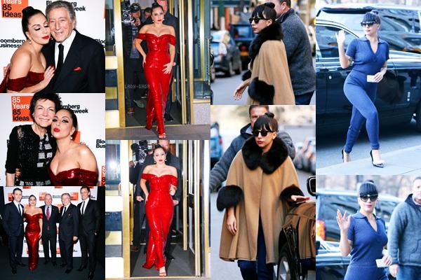 04/12/14   ▬ Lady Gaga toute belle,  a été vue sortant de son appartement à  « New York » . C'est un Top!