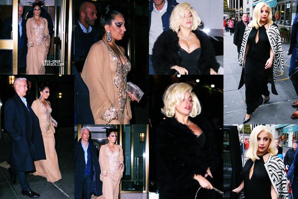 20/12/14   ▬ Lady Gaga toute belle,  a été vue sortant de son appartement à  « New York » . C'est un Top!