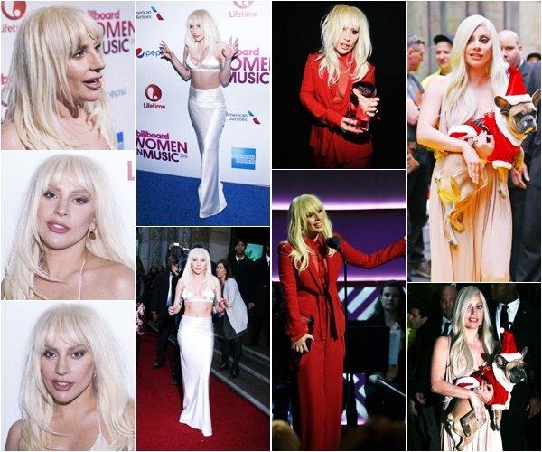 11/12/15   ▬ Lady Gaga était présente à la cérémonie des  « Women In Music  »  à New York. C'est un Top!