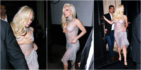 19/12/15   ▬ Lady Gaga toute belle, a été vue sortant du restaurant  « Beso »  à Los Angeles. C'est un Top!