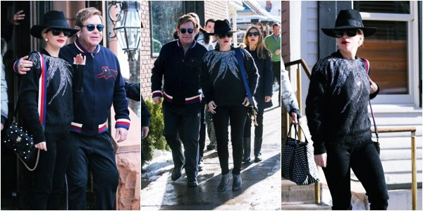 24/12/16   ▬ Lady Gaga toute belle, a été vue avec Elton John à  « Aspen » dans le Colorado. C'est un Top!