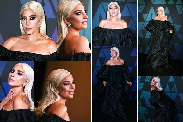 18/11/18   ▬ Gaga était présente à la cérémonie   « Governors Awards » à Los Angeles. C'est un Top.