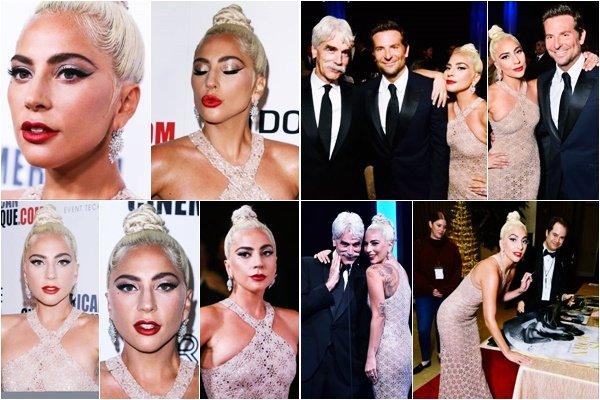 29/11/18   ▬ Gaga était présente à la cérémonie   « Cinematheque Awards » à Los Angeles. C'est un Top.