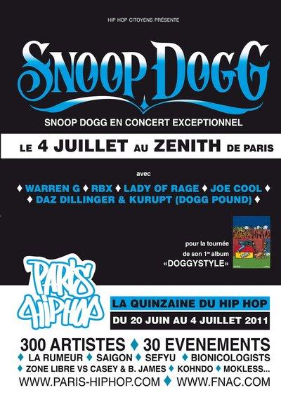 SNOOP DOGG en concert EXCEPTIONNEL à Paris