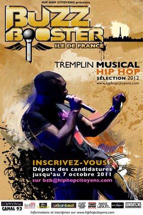 """TREMPLIN RAP """"BUZZ BOOSTER ILE-DE-FRANCE"""""""