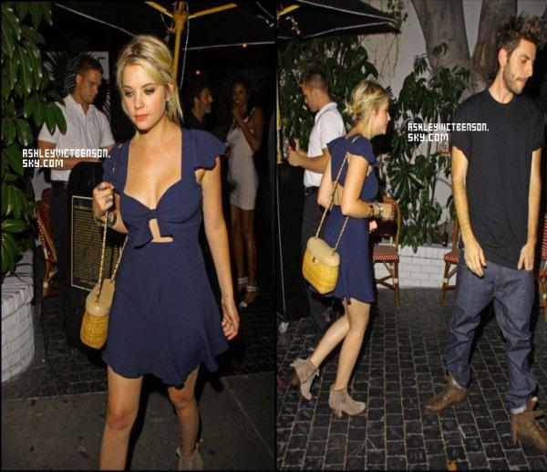 19/08/12 : Ashley accompagné de son Boyfriend Ryan Good étaient au château Marmont