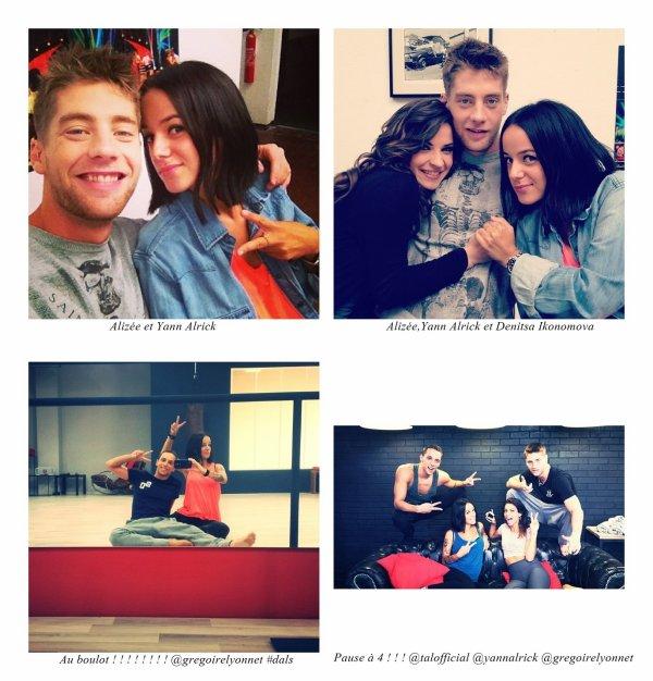 Alizée nous partage des photos de ses journée  DALS
