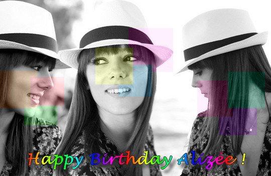 Joyeux anniversaire Alizée
