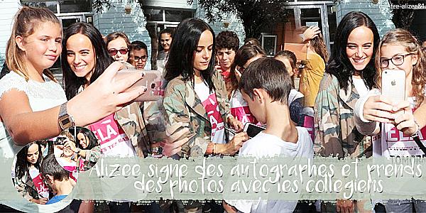 Alizée soutient de belles causes
