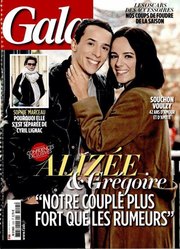 Alizée & Grégoire en couv' de GALA