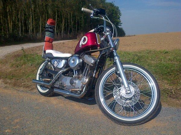Bobber Harley Davidson Sporster Washington Red Skin
