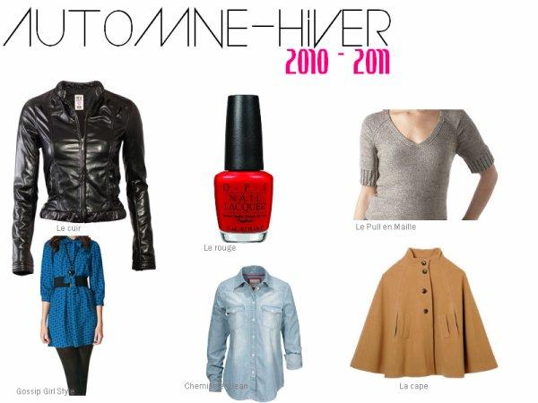 Les tendances Automne - Hiver ♥