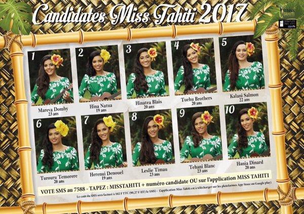 Miss Tahiti 2017 laquelle choisir?