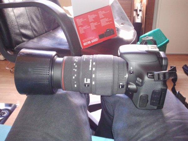 Nouvel appareil photo Canon D600
