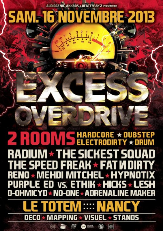 Excess Overdrive @ le Totem - Nancy (16-11-13)
