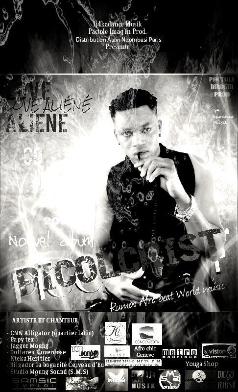 Picolcrist Affiche Officiel de l'album Love Aliéné -Skyrock