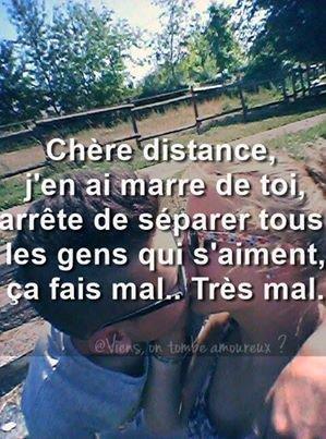 Notre amour est bien lus fort que la distance..