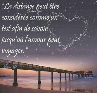 Notre amour voyage 3000 kms tout les jours.!