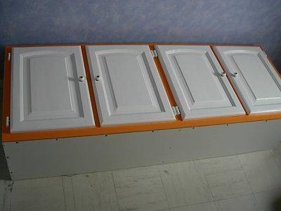 creation de ma cuisine  en pin  laquée blanc  novembre et decembre 2010