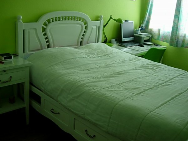 lit romantique laqué blanc