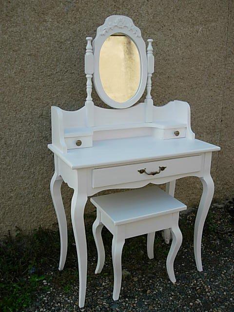 coiffeuse et miroir et son  siege