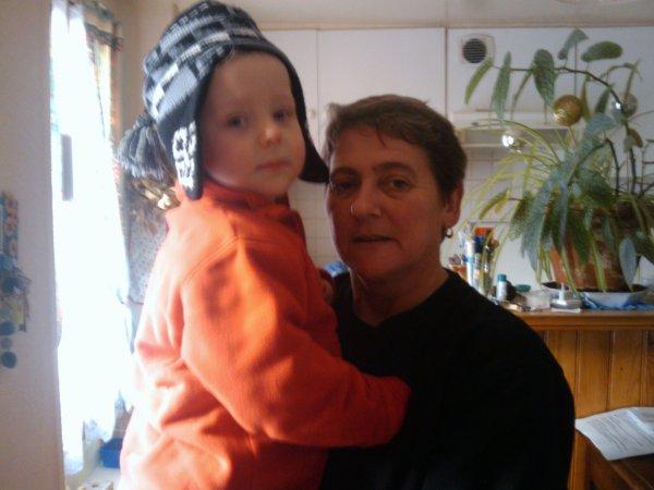 Mamounette et Enzo, octobre 2010