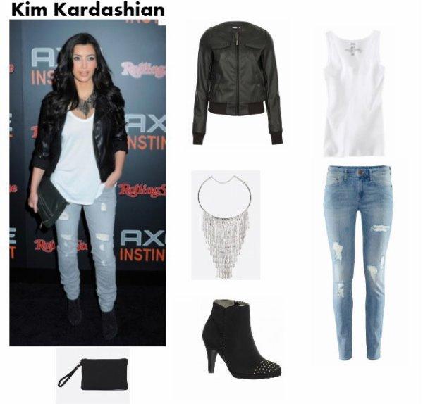 Tenue Kim Kardashian