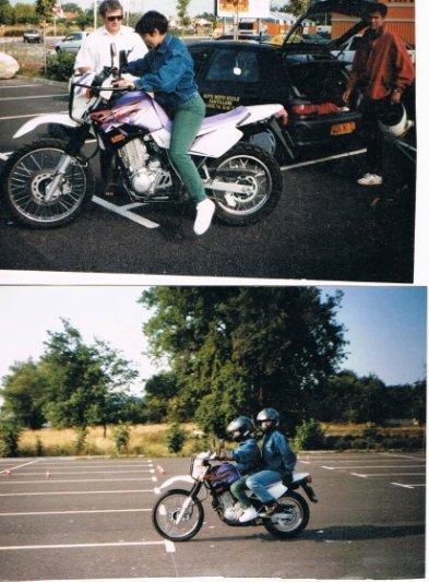 Ma première leçon moto