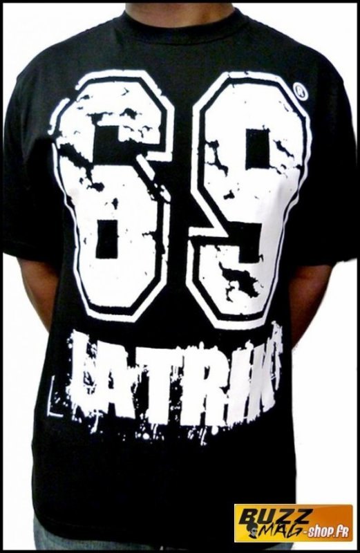 Tee Shirt 69 LA TRIK Big Logo Noir Blanc