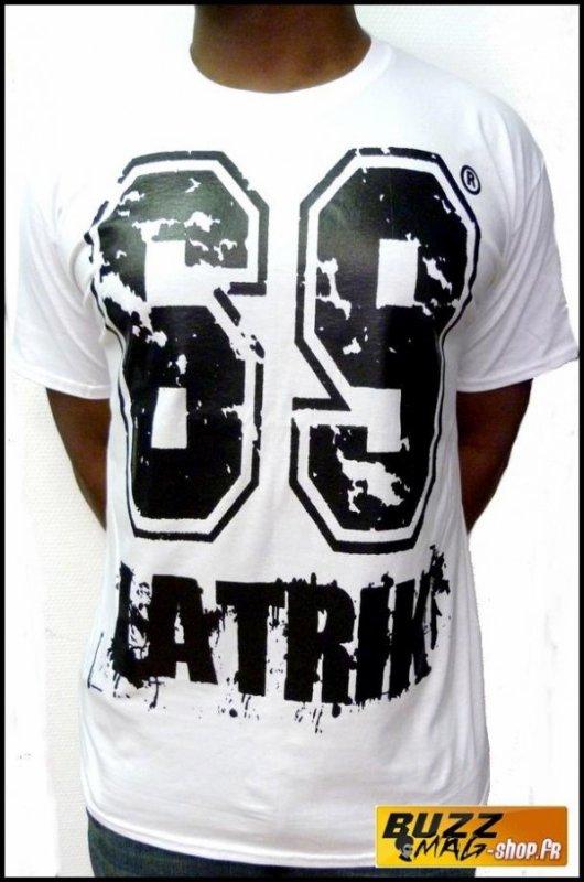 Tee Shirt 69 LA TRIK Big Logo Blanc Noir