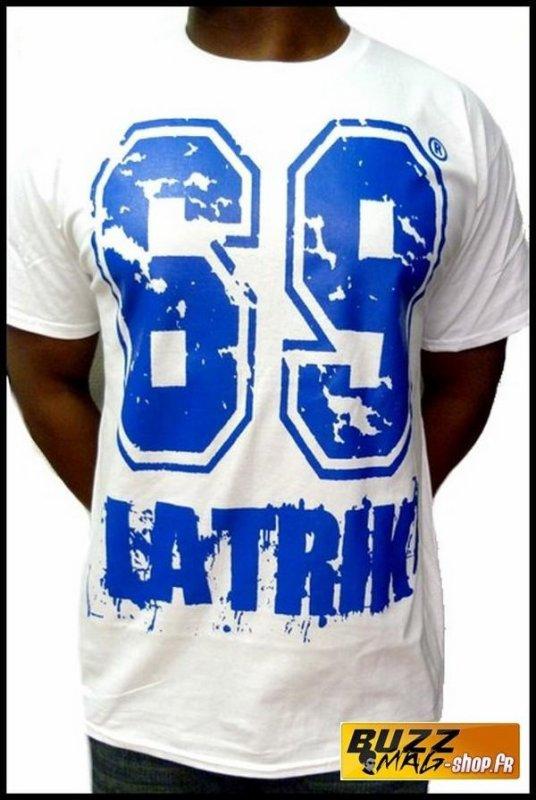Tee Shirt 69 LA TRIK Big Logo Blanc Bleu