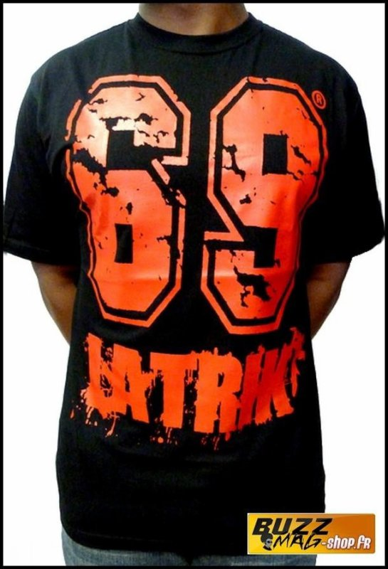 Tee Shirt 69 LA TRIK Big Logo Noir Rouge