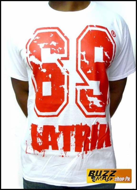 Tee Shirt 69 LA TRIK Big Logo Blanc Rouge