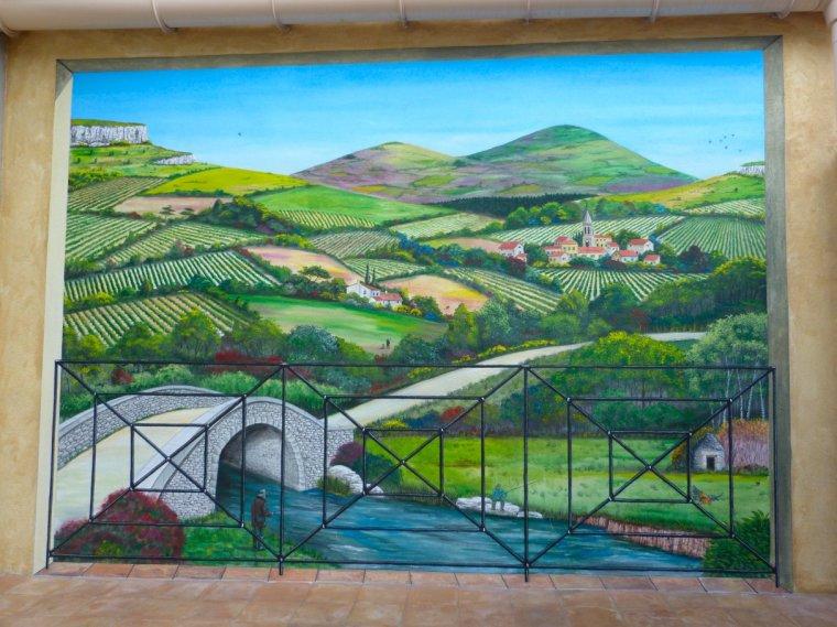 fresque paysage du terroir