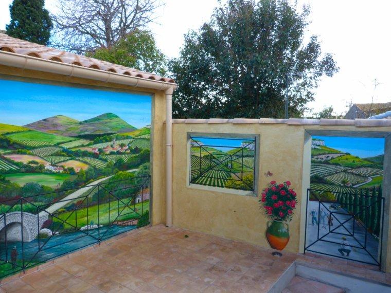 décembre 2012 - fresque paysage du terroir - environ 15 m2