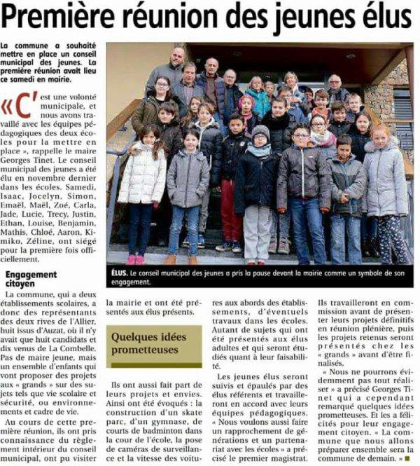 Conseil municipal jeunes Auzat la Combelle