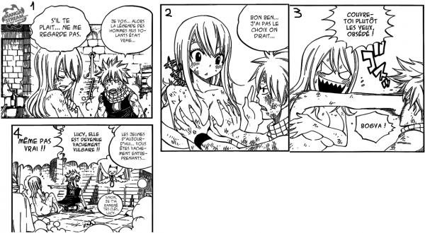Natsu est entreprenant avec Lucy :D scan n=331
