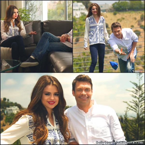 Selena Gomez en interview avec Ryan Seacrestn, le 15 Juillet.