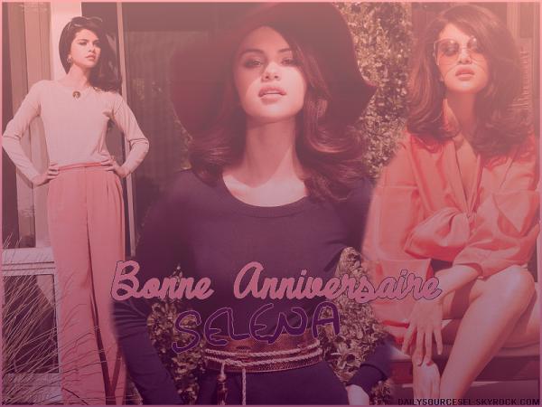 Happy Birthday Selena !