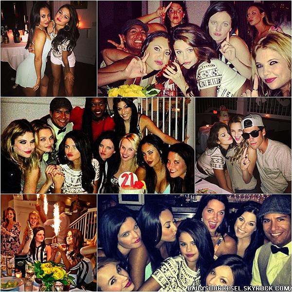 20.07 Sel s'est rendue à la fête d'anniversaire de Julianne Hough à Los Angeles.