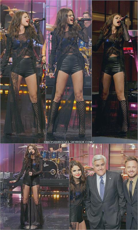 """23.07 Selena était au """"The Tonight Show"""" avec Jey Leno"""