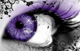 Oeil violet