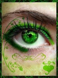 bel oeil vert