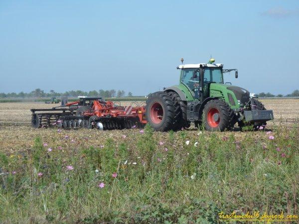 broyage et déchaumage de maïs 2010 ( 17 aout 2010 )