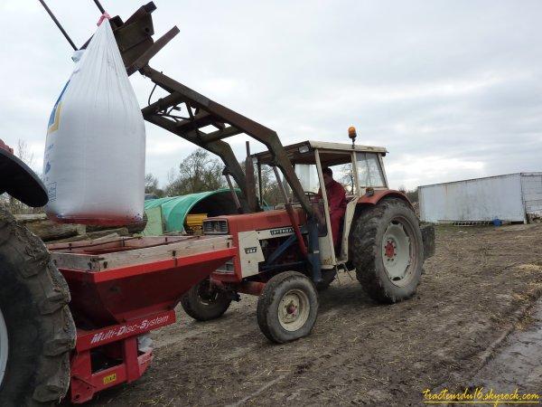 épandage d'engrais sur les blés 2011 ( 24 janvier 2011 )