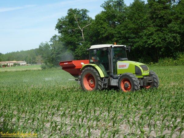 Epandage d'engrais sur maïs 2011 ( 13 mai 2011 )