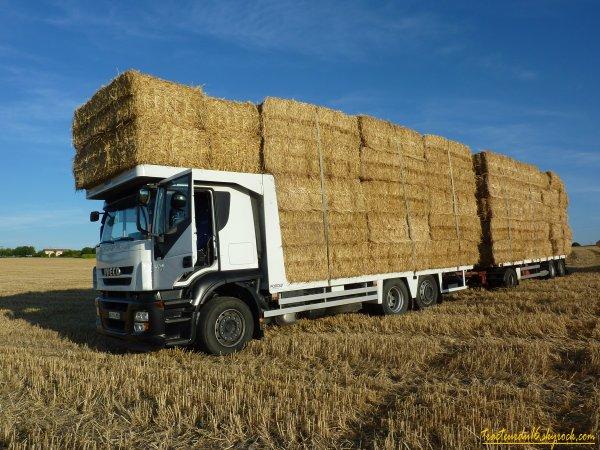 Pressage et ramassage de paille de blé ( 24 juin 2011 )