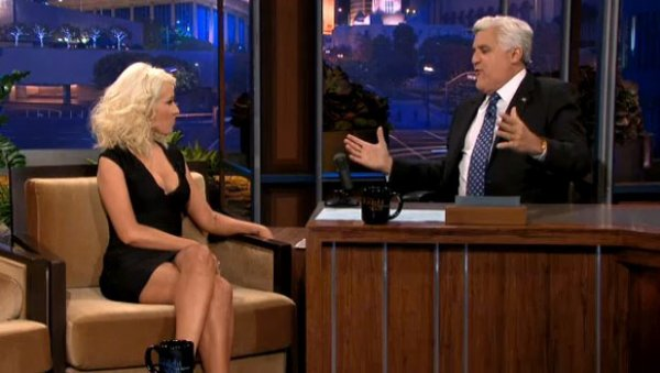 Christina invité chez Jay Leno