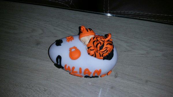 Veilleuse tigrou avec prénom, date de naissance, taille et poid 14.5¤