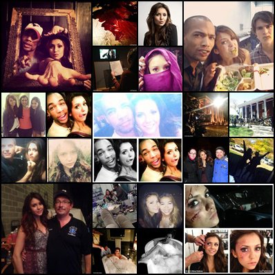 photos du tournage de the vampire diaries saison 5